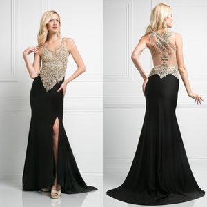 LAST 1! Sleeveless Full Beaded V-Neck Slit Dress